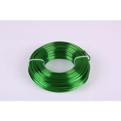 Aluminium-Draht 2mm apfelgrün 60 Meter 038889