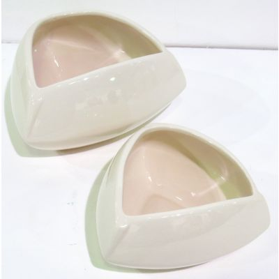 Keramik-Topf Herzform 19 x 19 x 10,5 cm weiss 082002