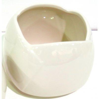 Keramik-Topf 16 x 16 x 12 cm weiss 082005
