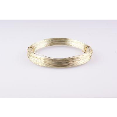 Aluminium-Draht 1mm hellgold  60 Meter 088426