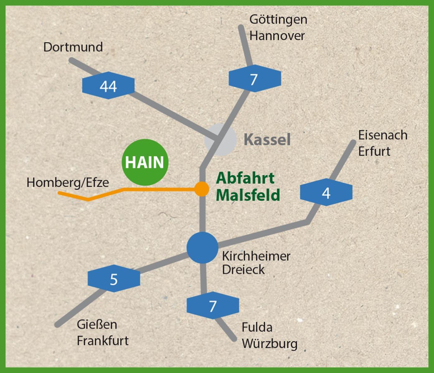 Anfahrtsskizze Hain-Mosheim